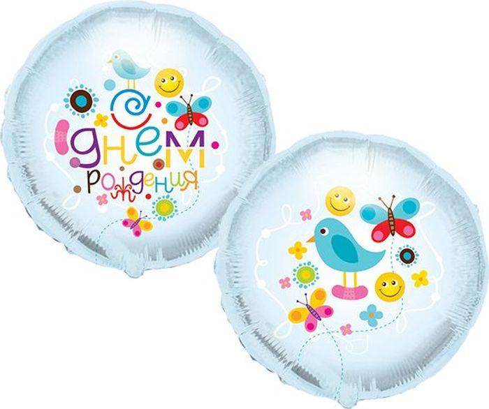 Конвер Шарик воздушный С Днем Рождения Птичка цвет прозрачный disney гирлянда детская на ленте тачки с днем рождения