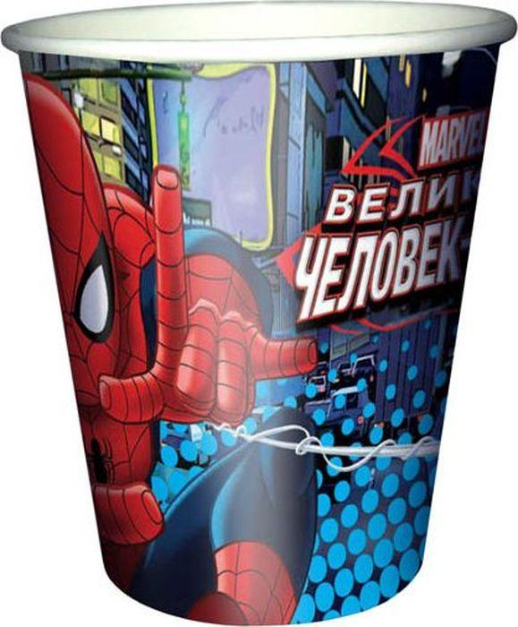 """Красочные бумажные одноразовые стаканчики - это очень удобно, их легко убирать после вечеринки. Главное преимущество одноразовой посуды - ее не нужно мыть, а значит, можно в полной мере наслаждаться праздником. Данные стаканы придутся по вкусу фанатам """"Человека-паука""""."""