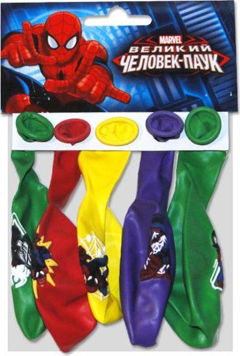 Шарик воздушный Пастель Декоратор Марвел Человек-Паук с хедером 5 шт
