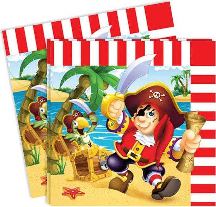 Пати Бум Салфетки Веселый Пират 12 шт пати бум набор трубочек веселый пират цвет синий 6 шт