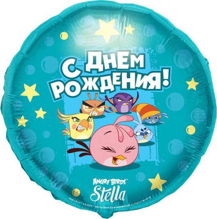 Конвер Шарик воздушный С Днем Рождения Angry Birds Stella цвет голубой