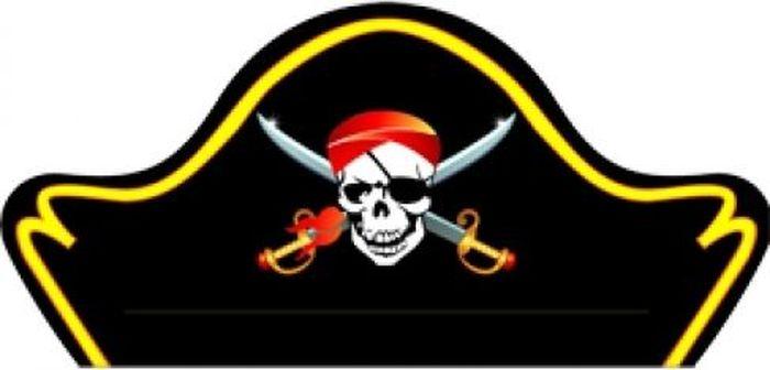 Пати Бум Шляпа праздничная Пират 6 шт