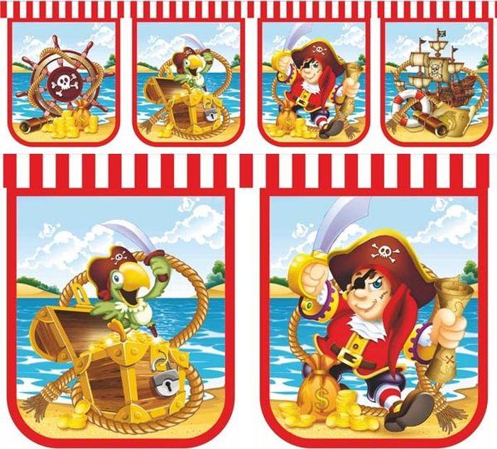 Пати Бум Гирлянда детская Веселый Пират 240 см пати бум набор трубочек веселый пират цвет синий 6 шт