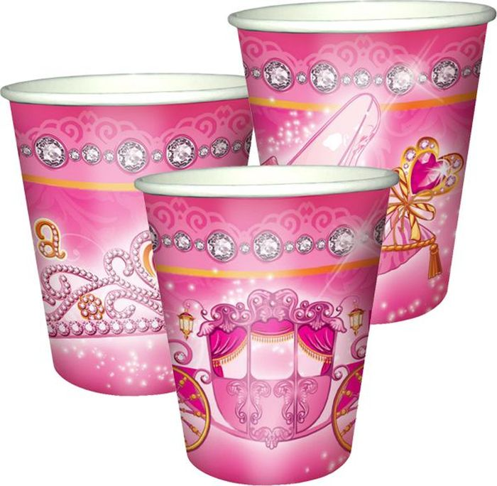"""Стаканы """"Моя принцесса"""" подойдут для организации детской вечеринки, дня рождения и других праздников. В наборе 6 стаканов объемов 250 мл, выполненных из бумаги. Стаканы оформлены милым принтом. Такие стаканы станут отличным дополнением праздничного настроения."""
