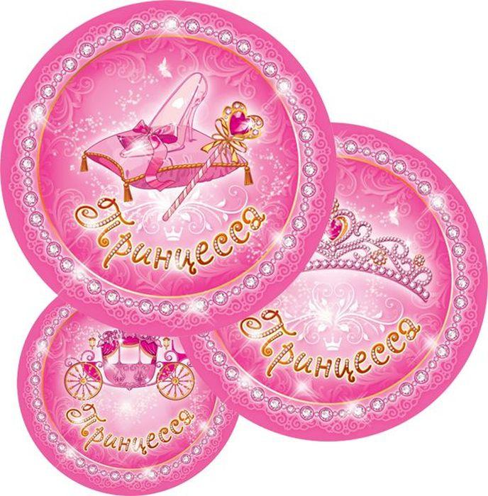 Пати Бум Набор тарелок Моя Принцесса 6 шт пати бум язык гудок с карточкой моя принцесса 6 шт