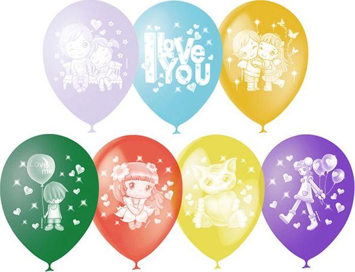 Latex Occidental Набор воздушных шариков Пастель Декоратор I love you 50 шт воздушные шары