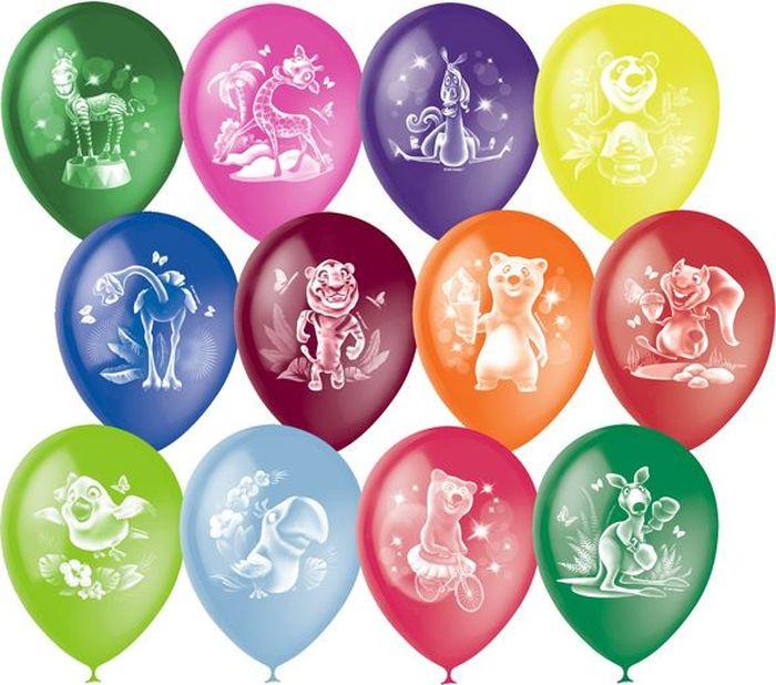 Шарик воздушный Пастель Декоратор Веселый зоопарк 50 шт мозаика алмазные узоры воздушные шары 02078