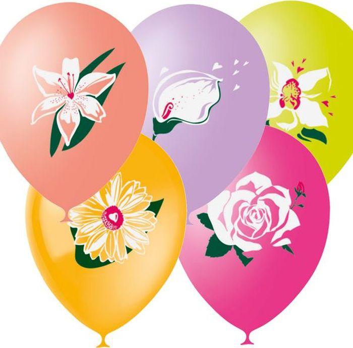 Шарик воздушный Цветы 25 шт бассейны и фонтаны