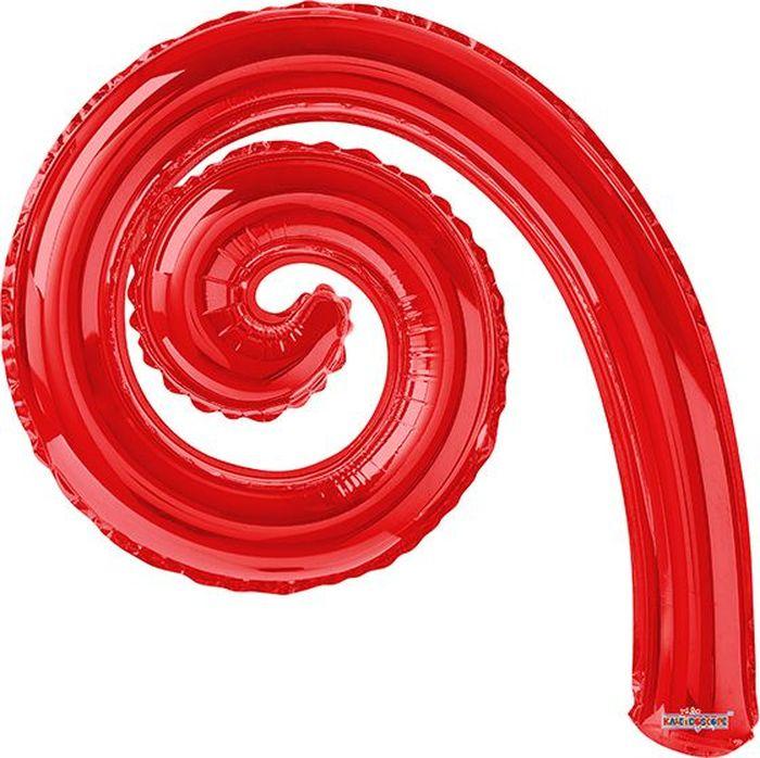 Конвер Шарик воздушный Спираль цвет красный овальные натуральный жемчуг шарик нити слива 13 14x7 8 мм отверстие 0 8 мм около 38 40 шт нитка 13 7