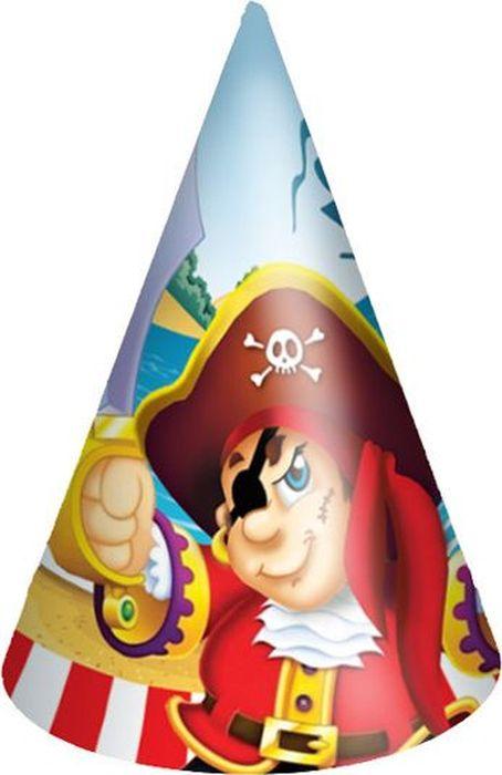 Пати Бум Колпак Веселый Пират 6 шт пати бум набор трубочек веселый пират цвет синий 6 шт
