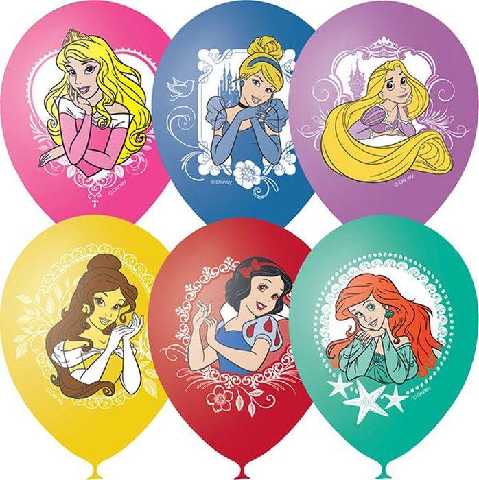 Шарик воздушный Пастель Декоратор Дисней Принцессы 25 шт воздушные шары