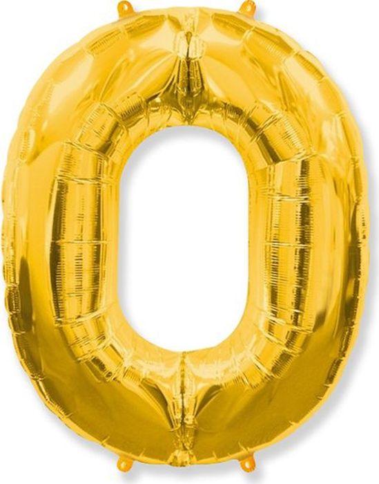Флексметал Шарик воздушный Цифра 0 цвет золото