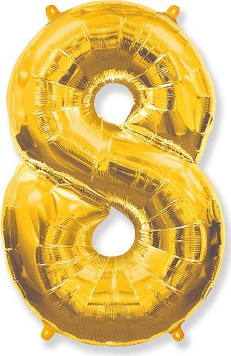Флексметал Шар воздушный Цифра 8 цвет золото куплю гелий в алтайский край