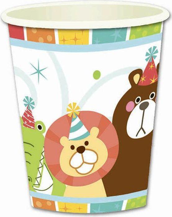 """Стаканы из набора """"Веселый зоопарк"""" подойдут для организации детской вечеринки, дня рождения и других праздников. В наборе 6 стаканов объемов 250 мл, выполненных из бумаги. Милые изображения животных дополнят любой обеденный и праздничный стол и подарят положительные эмоции."""