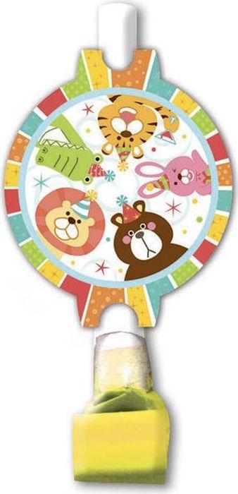 Пати Бум Язык-гудок с карточкой Веселый зоопарк 6 шт -  Аксессуары для детского праздника