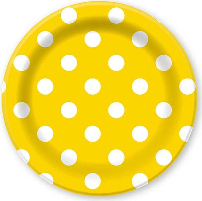 Пати Бум Тарелка бумажная Горошек цвет желтый 6 шт пати бум салфетки горошек цвет красный 12 шт