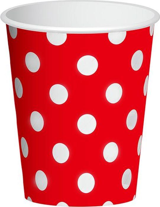 """Стаканы """"Горошек"""" подойдут для организации детской вечеринки, дня рождения и других праздников. В наборе 6 стаканов объемов 250 мл, выполненных из бумаги. Стаканы оформлены принтом в горох. Такие стаканы станут отличным дополнением праздничного настроения."""