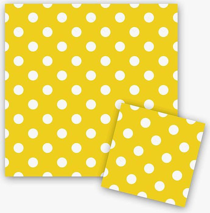 Пати Бум Салфетки Горошек цвет желтый 12 шт салфетки duni салфетки duni комплект 2 шт