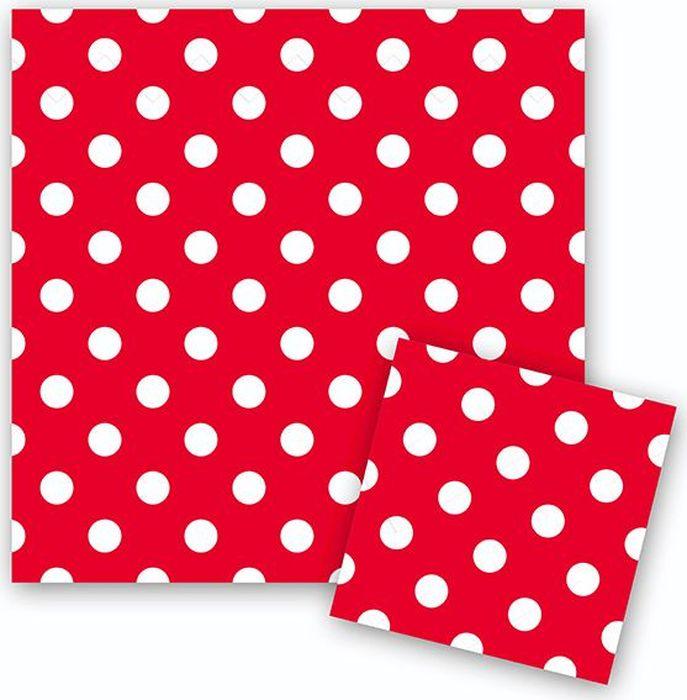 Пати Бум Салфетки Горошек цвет красный 12 шт салфетки duni салфетки duni комплект 2 шт