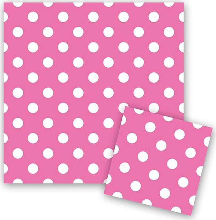 Пати Бум Салфетки Горошек цвет розовый 12 шт бэби бум комбинезон китти розовый