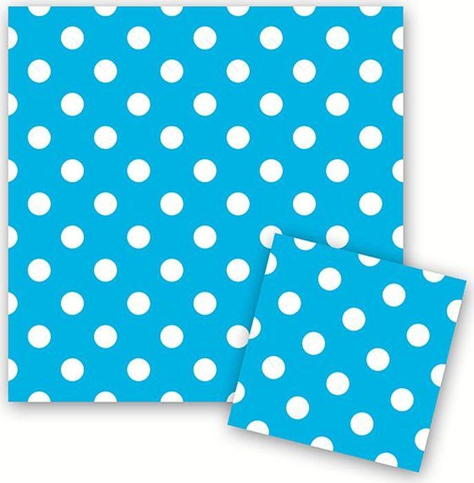 Пати Бум Салфетки Горошек цвет голубой 12 шт