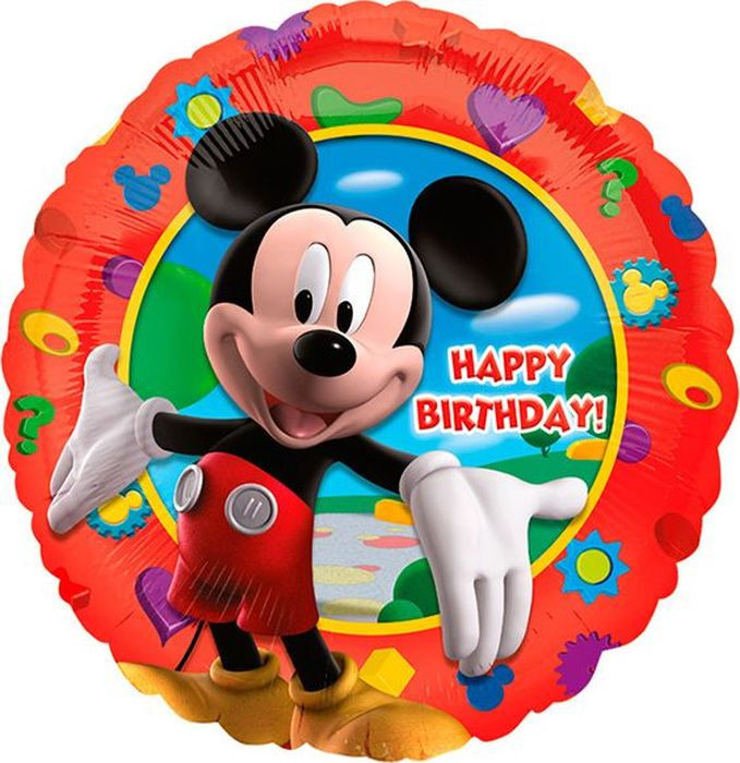 Anagram Шарик воздушный Счастливого Дня рождения Микки lori магниты из гипса клуб микки мауса lori