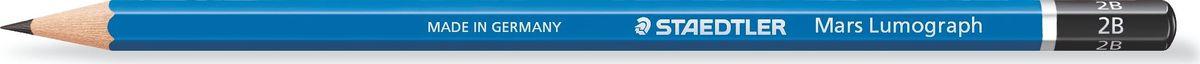 Staedtler Карандаш Lumograph 100 2В100-2BВысококачественный чернографитовый карандаш для письма, черчения и набросков на бумаге и матовой чертежной пленке. Шестигранная форма корпуса. Непревзойденная устойчивость к поломке благодаря специально разработанному составу грифеля и особой проклейке.Степень твердости - 2B (мягкий). Диаметр грифеля - 2 мм.