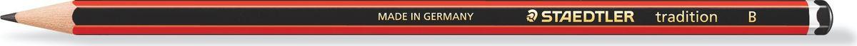 Staedtler Карандаш Tradition В110-BЧернографитовый карандаш с шестигранной формой корпуса для письма, черчения и набросков.Степень твердости - B (мягкий). Диаметр грифеля - 2 мм. Непревзойденная устойчивость к поломке благодаря специально разработанному составу грифеля и особой проклейке.