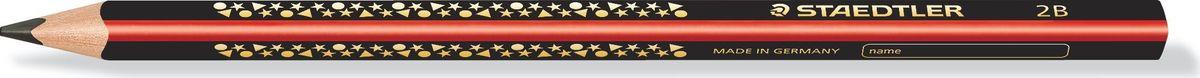 Staedtler Карандаш Jumbo 2B1285-1Высококачественный карандаш для учебы Jumbo эргономичной трехгранной формы для удобного и легкого письма. Идеально для первых упражнений в письме и рисовании. Привлекательный дизайн Звезды с полем для имени. Непревзойденная устойчивость к поломке благодаря специально разработанному составу грифеля и особой проклейке. Грифель 2B (мягкий). Диаметр грифеля - 3 мм.