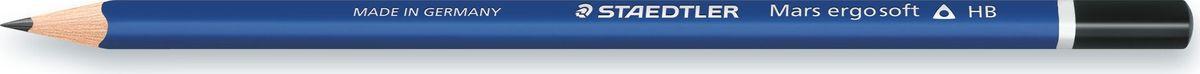 Staedtler Карандаш Mars Ergo Soft Премиум 2B150-2BВысококачественный карандаш эргономичной трехгранной формы для удобного и легкого письма и рисования. Уникальное, нескользящее мягкое покрытие. Степень твердости - 2B (мягкий). Диаметр грифеля - 2 мм. Непревзойденная устойчивость к поломке благодаря специально разработанному составу грифеля и особой проклейке.