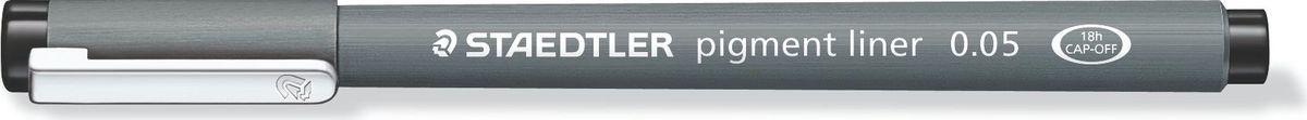 Staedtler Ручка капиллярная Pigment Liner 0,05 мм цвет чернил черный308005-9Капиллярная ручка с корпусом из полипропилена идеальна для письма, набросков и черчения, стирается с кальки, не размазывается при выделении текстовыделителем. Удлиненный металлический узел идеален для работы с линейками и шаблонами. Пигментные чернила, несмываемые, свето- и водоустойчивые. Можно оставить без колпачка на 18 часов и не опасаться высыхания.