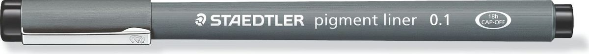 Staedtler Ручка капиллярная Pigment Liner 0,1 мм цвет чернил черный30801-9Капиллярная ручка серии pigment liner 308. Цвет черный. Толщина линии - 0,1 мм. Капиллярные ручки 308 серии идеальны для письма, набросков и черчения. Удлиненный металлический узел идеален для работы с линейками и шаблонами. Пигментные чернила, несмываемые, свето- и водоустойчивые. Стирается с кальки, не размазывается при выделении текстовыделителем. Можно оставить без колпачка на 18 часов и не опасаться высыхания. Корпус из пропилена гарантирует долгий срок службы.
