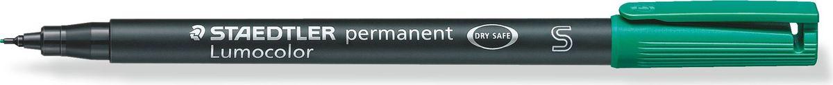 Staedtler Маркер перманентный Lumocolor 0,4 мм цвет чернил зеленый313-5Универсальный маркер для большинства поверхностей.Подходит для работы с проекторами и на CD/DVD. Превосходная защита от смазывания и водоустойчивые характеристики на большинстве гладких поверхностей. Высыхает в считанные секунды, что делает его идеальным для левшей.Защита от высыхания - может быть оставлен без колпачка на несколько дней. Безопасно для самолетов - автоматическое выравнивание давления предотвращает от вытекания чернил на борту самолета. Толщина линии - F, приблизительно 0,4 мм.