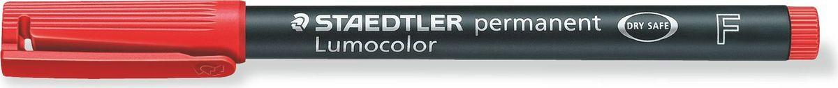 Staedtler Маркер перманентный Lumocolor 0,6 мм цвет чернил красный318-2Универсальный маркер для большинства поверхностей. Толщина линии - F, приблизительно 0,6 мм. Красный цвет чернил. Подходит для работы с проекторами и на CD/DVD. Превосходная защита от смазывания и водоустойчивые характеристики на большинстве гладких поверхностей. Высыхает в считанные секунды, что делает его идеальным для левшей. Перманентные, слабо пахнущие чернила. Корпус и колпачок из полипропилена гарантируют долгий срок службы. Защита от высыхания - может быть оставлен без колпачка на несколько дней. Безопасно для самолетов - автоматическое выравнивание давления предотвращает от вытекания чернил на борту самолета. Чернила без ксилона и толуола.