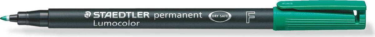Staedtler Маркер перманентный Lumocolor 0,6 мм цвет чернил зеленый318-5Универсальный маркер для большинства поверхностей.Подходит для работы с проекторами и на CD/DVD. Превосходная защита от смазывания и водоустойчивые характеристики на большинстве гладких поверхностей. Высыхает в считанные секунды, что делает его идеальным для левшей.Защита от высыхания - может быть оставлен без колпачка на несколько дней. Безопасно для самолетов - автоматическое выравнивание давления предотвращает от вытекания чернил на борту самолета. Толщина линии - F, приблизительно 0,6 мм.