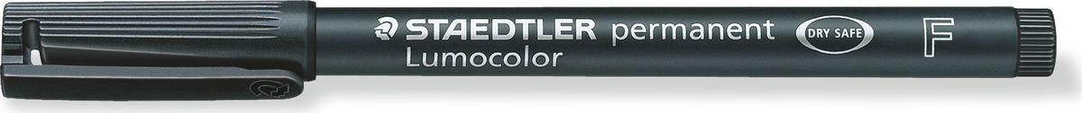 Staedtler Маркер перманентный Lumocolor 0,6 мм цвет чернил черный318-9Универсальный маркер для большинства поверхностей.Подходит для работы с проекторами и на CD/DVD. Превосходная защита от смазывания и водоустойчивые характеристики на большинстве гладких поверхностей. Высыхает в считанные секунды, что делает его идеальным для левшей.Защита от высыхания - может быть оставлен без колпачка на несколько дней. Безопасно для самолетов - автоматическое выравнивание давления предотвращает от вытекания чернил на борту самолета. Толщина линии - F, приблизительно 0,6 мм.