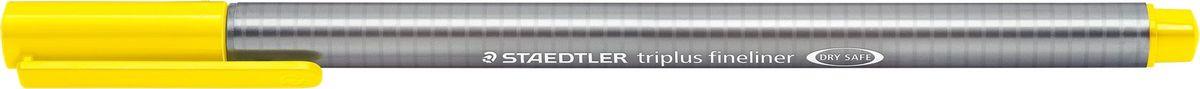 Staedtler Ручка капиллярная Triplus 334 0,3 мм цвет чернил желтый334-1Капиллярная ручка с корпусом из полипропилена и эргономичной трехгранной формой для удобного и легкого письма. Пишущий узел завальцован в металл. Чернила на водной основе отстирываются с большинства тканей. Можно оставить без колпачка на 18 часов и не опасаться высыхания.