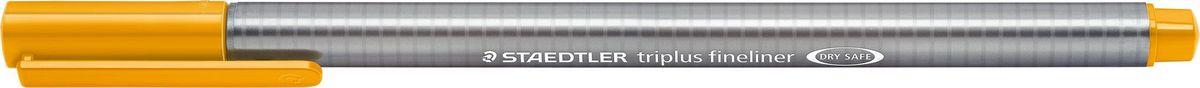 Staedtler Ручка капиллярная Triplus 334 0,3 мм цвет чернил золотая охра334-16Капиллярная ручка с корпусом из полипропилена и эргономичной трехгранной формой для удобного и легкого письма. Пишущий узел завальцован в металл. Чернила на водной основе отстирываются с большинства тканей. Можно оставить без колпачка на 18 часов и не опасаться высыхания.