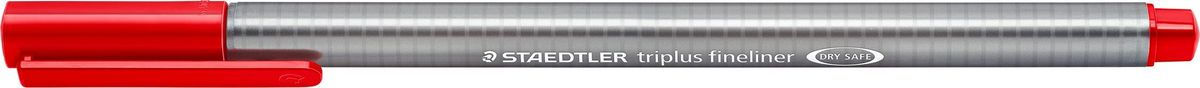 Staedtler Ручка капиллярная Triplus Liner 0,3 мм цвет чернил красный334-2Капиллярная ручка triplus 334 серии. Цвет красный. Эргономичная трехгранная форма для удобного и легкого письма. Пишущий узел завальцован в металл. Защита от высыхания - может быть оставлен без колпачка на несколько дней (тест ISO). Чернила на водной основе. Остирывается с большинства тканей. Корпус из полипропилена гарантирует долгий срок службы. Толщина линиии примерно 0,3 мм.
