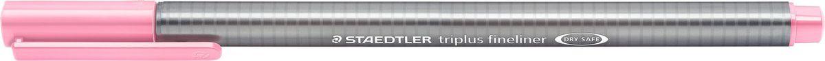 Staedtler Ручка капиллярная Triplus 334 0,3 мм цвет чернил розовый334-21Капиллярная ручка triplus 334 серии. Цвет светло-алый. Эргономичная трехгранная форма для удобного и легкого письма. Пишущий узел завальцован в металл. Защита от высыхания - может быть оставлен без колпачка на несколько дней (тест ISO). Чернила на водной основе. Остирывается с большинства тканей. Корпус из полипропилена гарантирует долгий срок службы. Толщина линиии примерно 0,3 мм.