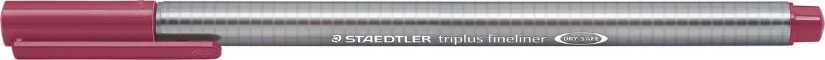 Staedtler Ручка капиллярная Triplus 334 0,3 мм цвет чернил красный тосканский334-260Капиллярная ручка с корпусом из полипропилена и эргономичной трехгранной формой для удобного и легкого письма. Пишущий узел завальцован в металл. Чернила на водной основе отстирываются с большинства тканей. Можно оставить без колпачка на 18 часов и не опасаться высыхания.