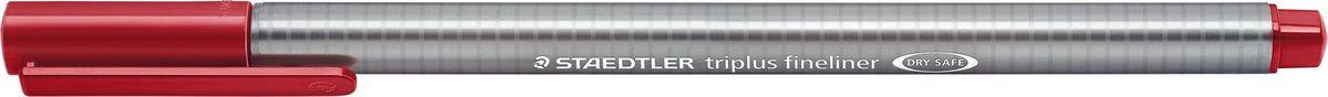 Staedtler Ручка капиллярная Triplus 334 0,3 мм цвет чернил алый334-29Капиллярная ручка с корпусом из полипропилена и эргономичной трехгранной формой для удобного и легкого письма. Пишущий узел завальцован в металл. Чернила на водной основе отстирываются с большинства тканей. Можно оставить без колпачка на 18 часов и не опасаться высыхания.