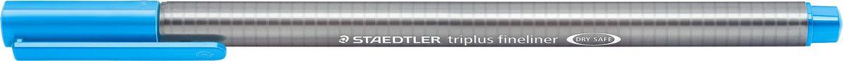 Staedtler Ручка капиллярная Triplus 334 0,3 мм цвет чернил светло-синий334-30Капиллярная ручка с корпусом из полипропилена и эргономичной трехгранной формой для удобного и легкого письма. Пишущий узел завальцован в металл. Чернила на водной основе отстирываются с большинства тканей. Можно оставить без колпачка на 18 часов и не опасаться высыхания.