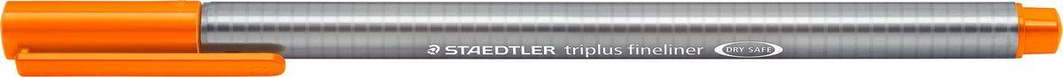 Staedtler Ручка капиллярная Triplus 334 0,3 мм цвет чернил оранжевый334-4Капиллярная ручка triplus 334 серии. Цвет оранжевый. Эргономичная трехгранная форма для удобного и легкого письма. Пишущий узел завальцован в металл. Защита от высыхания - может быть оставлен без колпачка на несколько дней (тест ISO). Чернила на водной основе. Остирывается с большинства тканей. Корпус из полипропилена гарантирует долгий срок службы. Толщина линиии примерно 0,3 мм.