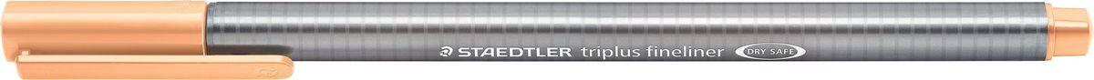 Staedtler Ручка капиллярная Triplus 334 0,3 мм цвет чернил персиковый334-430Капиллярная ручка triplus 334 серии. Цвет персиковый. Эргономичная трехгранная форма для удобного и легкого письма. Пишущий узел завальцован в металл. Защита от высыхания - может быть оставлен без колпачка на несколько дней (тест ISO). Чернила на водной основе. Остирывается с большинства тканей. Корпус из полипропилена гарантирует долгий срок службы. Толщина линиии примерно 0,3 мм.