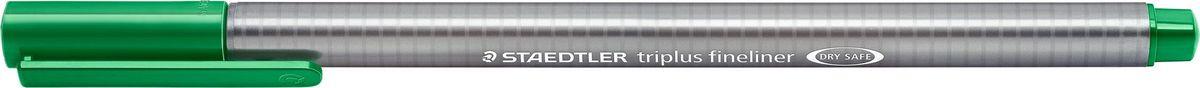 Staedtler Ручка капиллярная Triplus Liner 0,3 мм цвет чернил зеленый334-5Капиллярная ручка triplus 334 серии. Цвет зеленый. Эргономичная трехгранная форма для удобного и легкого письма. Пишущий узел завальцован в металл. Защита от высыхания - может быть оставлен без колпачка на несколько дней (тест ISO). Чернила на водной основе. Остирывается с большинства тканей. Корпус из полипропилена гарантирует долгий срок службы. Толщина линиии примерно 0,3 мм.