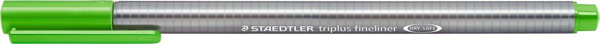 Staedtler Ручка капиллярная Triplus 334 0,3 мм цвет чернил светло-зеленый334-51Капиллярная ручка с корпусом из полипропилена и эргономичной трехгранной формой для удобного и легкого письма. Пишущий узел завальцован в металл. Чернила на водной основе отстирываются с большинства тканей. Можно оставить без колпачка на 18 часов и не опасаться высыхания.