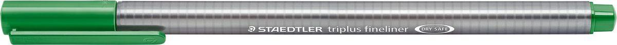 Staedtler Ручка капиллярная Triplus 334 0,3 мм цвет чернил зеленая трава334-52Капиллярная ручка с корпусом из полипропилена и эргономичной трехгранной формой для удобного и легкого письма. Пишущий узел завальцован в металл. Чернила на водной основе отстирываются с большинства тканей. Можно оставить без колпачка на 18 часов и не опасаться высыхания.