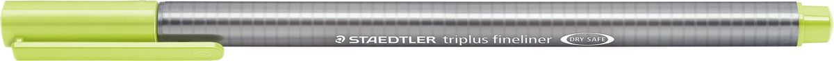 Staedtler Ручка капиллярная Triplus 334 0,3 мм цвет чернил зеленый лайм334-53Капиллярная ручка triplus 334 серии. Цвет зеленый лайм. Эргономичная трехгранная форма для удобного и легкого письма. Пишущий узел завальцован в металл. Защита от высыхания - может быть оставлен без колпачка на несколько дней (тест ISO). Чернила на водной основе. Остирывается с большинства тканей. Корпус из полипропилена гарантирует долгий срок службы. Толщина линиии примерно 0,3 мм.