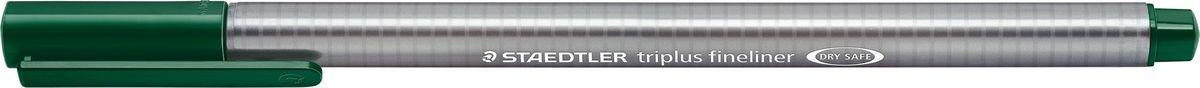 Staedtler Ручка капиллярная Triplus 334 0,3 мм цвет чернил зеленая земля334-55Капиллярная ручка с корпусом из полипропилена и эргономичной трехгранной формой для удобного и легкого письма. Пишущий узел завальцован в металл. Чернила на водной основе отстирываются с большинства тканей. Можно оставить без колпачка на 18 часов и не опасаться высыхания.